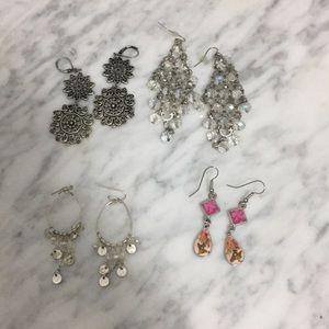 Dangling earrings set